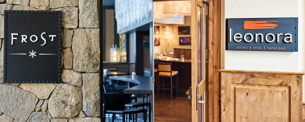 A gorgeous restaurant and lively bar offer amazing food and drinks for visitors to Vail.