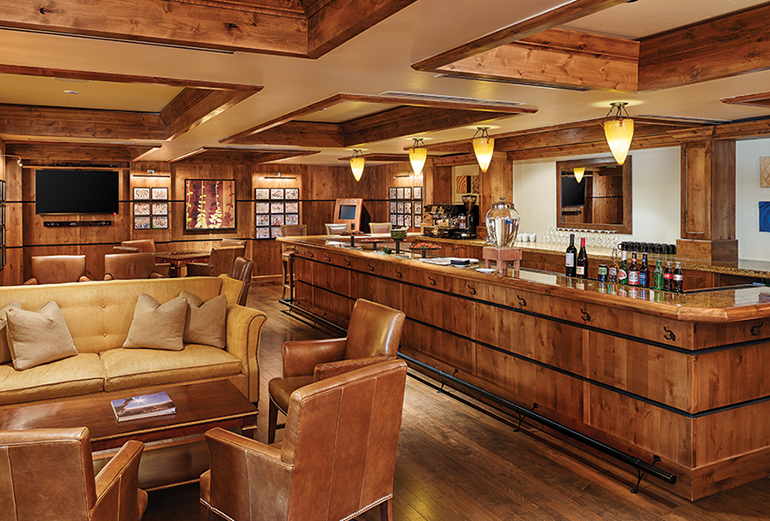 The members lounge at The Sebastian - Vail is available to owners of the properties.