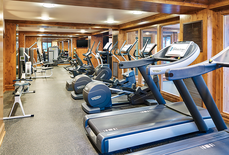 The fitness center in The Sebastian - Vail features the property's most modern equipment.