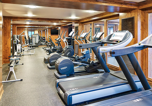 The fitness center and spa at the Sebastian - Vail is available for guests to enjoy.