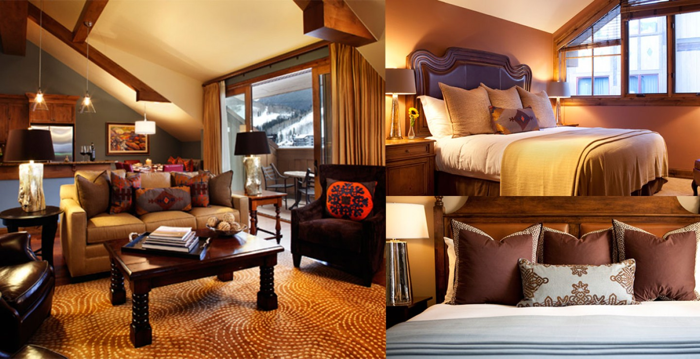 The Sebastian - Vail Living Room and Bedrooms