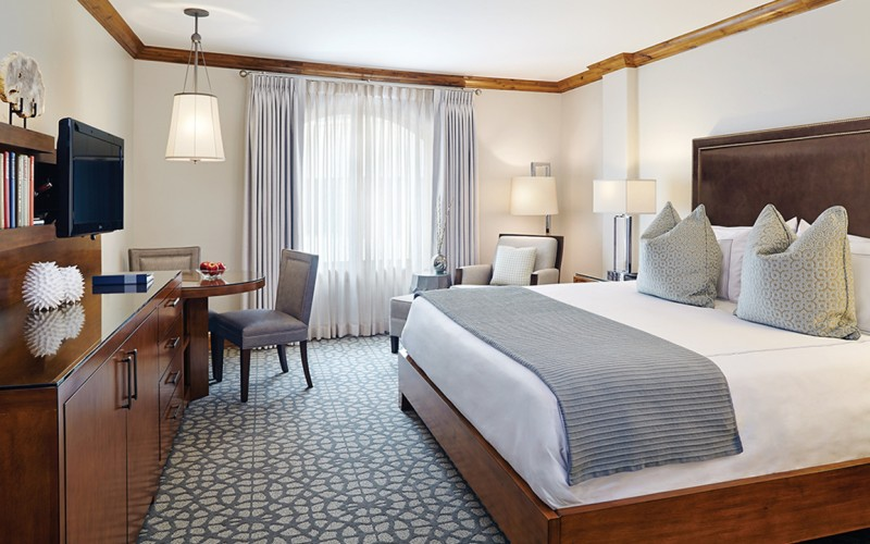 The luxury king room at The Sebastian Vail is perfect for a romantic Colorado getaway or professional trip.