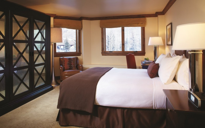 The Sebastian Vail classic guest room in Vail Village.
