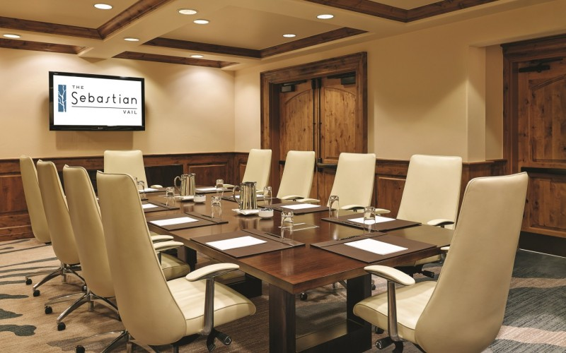 The Sebastian's event and meeting space in Colorado is set for a board meeting.